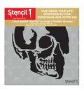 Stencil1 Customize Your Life! 5.75\u0027\u0027x6\u0027\u0027 Laser Stencil-Skull Profile