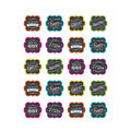 Teacher Created Resources Chalkboard Brights Stickers 12 Packs