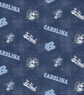 University of North Carolina Tarheels Flannel Fabric 42\u0022-Distressed Logo