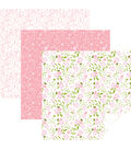 Cricut 12\u0027\u0027x12\u0027\u0027 Removable Matte Patterned Vinyl Samplers-Pink In Bloom