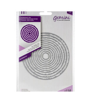 Crafter's Companion Gemini Elements Nesting Metal Dies-Circle Torn Edge