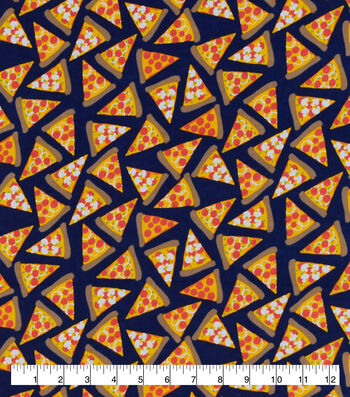 Snuggle Flannel Fabric-Pizza