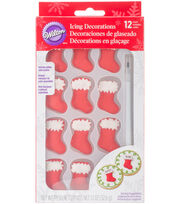 Wilton® 12 Pack Icing Decorations-Stockings, , hi-res