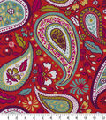 Robert Allen @ Home Lightweight Decor Fabric 55\u0022-Art Paisley Poppy