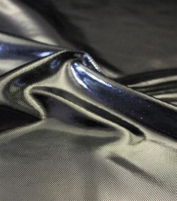 "Metallic Apparel Bodre Fabric 44""-Silver Foil Dot"