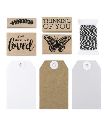 Park Lane Tag & Stamp Kit-Thinking of You