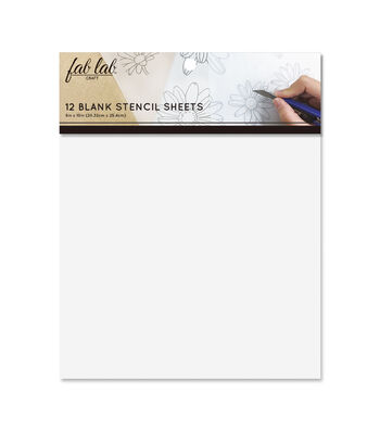 Fab Lab 12 pk 8''x10'' Blank Stencil Sheets-White