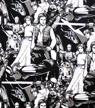 Star Wars Cotton Fabric -Classic Characters