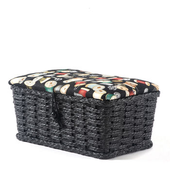 Extra Small Rectangle Sewing Basket-Threads