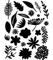 Tim Holtz Idea-ology 24 pk Cling Foam Stamps-Cutout Floral, , hi-res