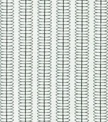 "Nate Berkus Multi-Purpose Decor Fabric 54""-Cole Stripe Paramount Ebony"