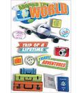 Paper House 3-D Sticker-World Travel