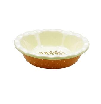 Mini Ceramic Pie Dish-Polka Dots