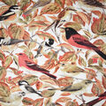 Novelty Cotton Fabric-Fall Birds & Leaves