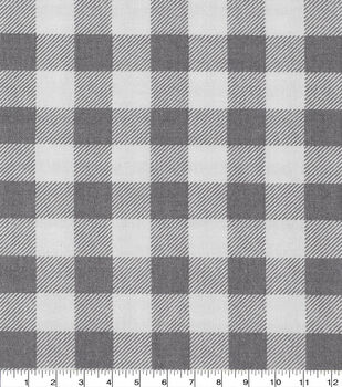 Keepsake Calico Cotton Fabric-Buffalo Check Gray White