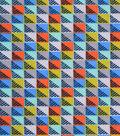 Snuggle Flannel Fabric 42\u0027\u0027-Multi Color Blocks