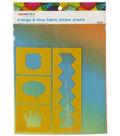 We Made It by Jennifer Garner Fabric Sticker Sheets- Orange & Blue