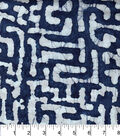 Legacy Studio Indian Batiks Cotton Fabric 44\u0022-Indigo Puzzle