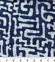 "Legacy Studio Indian Batiks Cotton Fabric 44""-Indigo Puzzle, , hi-res"
