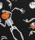 Halloween Cotton Fabric -Dancing Skeleton
