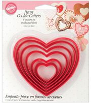 Wilton Nesting Plastic Cookie Cutters-Hearts, , hi-res