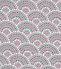 Snuggle Flannel Fabric -Pink Dotted Scales