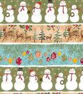 Christmas Cotton Fabric -Metallic Stripes