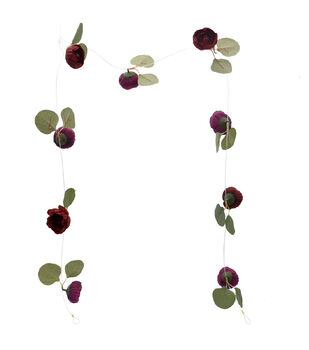 Bloom Room Artisan DIY Ranunculus Floating Garland-Burgundy