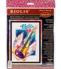 RIOLIS 8.25\u0027\u0027x11.75\u0027\u0027 Stamped Cross Stitch Kit-Rock \u0027n\u0027 Roll