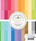 Doodlebug Petite Prints Double-Sided Paper Pad 6\u0022X6\u0022-Gingham/Linen
