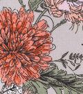 Sportswear Stretch Twill Fabric-Tan Coral Floral