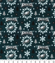 Christmas Philadelphia Eagles Flannel Fabric-Holiday, , hi-res