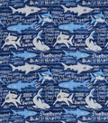 Snuggle Flannel Fabric-Sharktastic