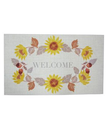 Simply Autumn Door Mat-Welcome & Sunflower