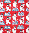 Frosty the Snowman Cotton Fabric-Allover