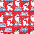 Christmas Cotton Fabric-Allover Frosty the Snowman