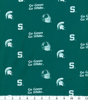 "Michigan State University Spartans Cotton Fabric 43""-Herringbone, , hi-res"