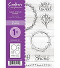 Crafter\u0027s Companion 8 pk Clear Acrylic Stamps-Be Kind & Shine