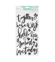 American Crafts Thicker Stickers-Chic Script Phrases, , hi-res