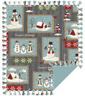 No Sew Fleece Throw 72\u0022-Patch Snowman
