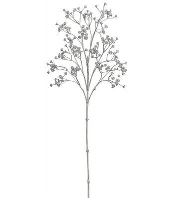 Bloom Room 26'' Metallic Gypsophila Spray-Silver