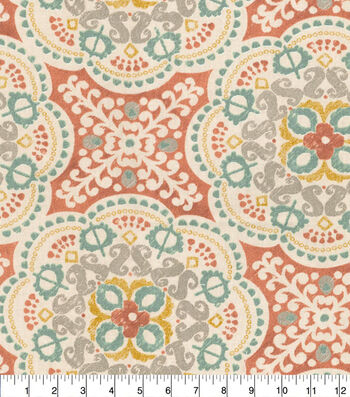 Waverly Upholstery Fabric 54''-Coral Astrid