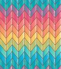 Snuggle Flannel Fabric -Rainbow Chevron