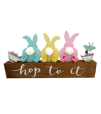 Easter Wood Table Decor-Hop To It