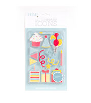 DCWV Home 15 Pack Letter Board Icons-Party, , hi-res