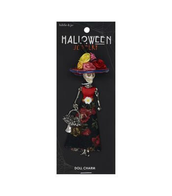 hildie & jo Halloween Doll Pendant-Day Of The Dead Floral Sofia