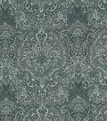 Vintage Cotton Fabric 43\u0022-Tonal Gray Damask