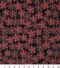 Christmas Cotton Fabric-Poinsettia Berries