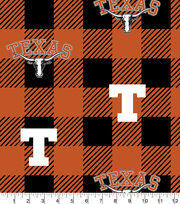 Texas Longhorns Fleece Fabric-Buffalo Plaid, , hi-res