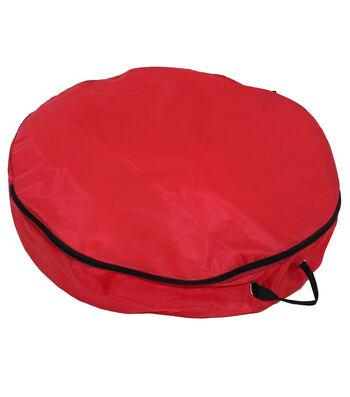 """Lightweight 30"""" Wreath Storage Bag-Red"""